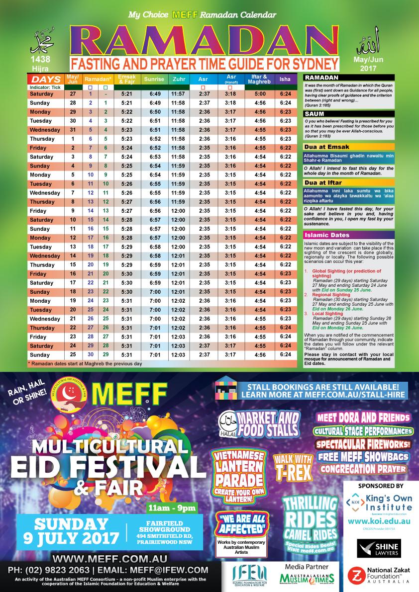 Calendar Ramadan : Ramadan calendar meff