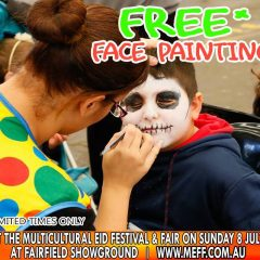 FREE Face Painting @1pm – 5:30pm